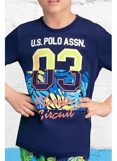 U.S. Polo Assn. U.S. Polo Assn Lisanslı Yeşil Erkek Çocuk Kapri Takım Lacivert
